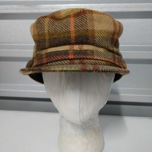 A Chic Brown Plaid Fiddler/Frye Hat by Nordstrom